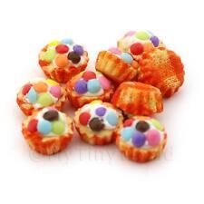 4x Miniatur Smartie gekrönt Cupcakes mit A orange Papier Cups