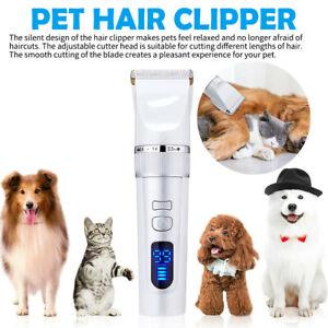 Pet Dog Cat Electric Trimmer Hair Clipper Untra Quiet Shaver Cutting Machine Kit