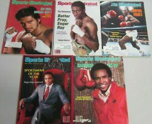 Sports illustrated sugar ray leonard magazine lot 5 different
