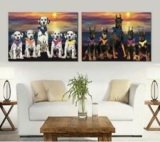 Family Sunset Dog Cat Canvas Wall Art, Pet Photo Lovers Gift Home Decor