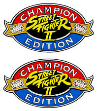 Street Fighter 2 Champion Edition Side Art Cabinet Graphic Stickers Reproduction