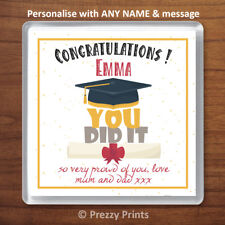 Personalised Graduation Congratulations Drinks Coaster Cup Mat Gift Present