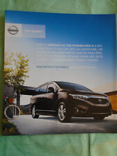 Nissan Quest brochure 2011 USA market