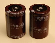 LOT DE 2 CONDENSATEURS CHIMIQUES 1000 µF 450 V - NCC