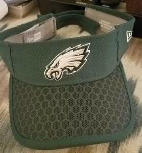 Philadelphia Eagles New Era NFL Summer Sideline Official Adjustable Visor New