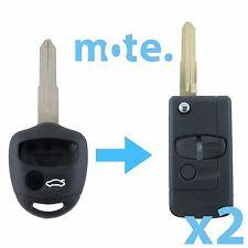 2 x Mitsubishi Lancer CJ 2007-2014 Remote Flip Key Blank Replacement Shell/Case