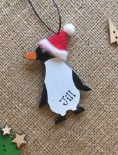 Personalised Penguin Christmas DECORATION Cute Tree Xmas Hat