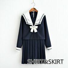 Filles Japonais École Uniforme JK Marin Chemise Jupe Costume Tenue Déguisement