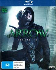 "DC Comics ""ARROW: Season 1-5"" Blu-ray 20 Disc Boxed Set - Region [B] NEW"