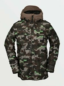 2021 NWT MENS VOLCOM CREEDLE2STONE JACKET $260 L Army 2 layer fleece lined
