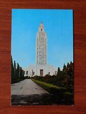 Louisiana State Capitol: Baton Rouge, LA -  vintage chrome postcard