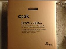 Polk Audio DSW PRO 660wi 12 inch Wireless Ready Powered Subwoofer! ALWAYS NEW!