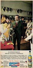 J0455 Vermouth CINZANO Bianco - Pubblicità - 1962 Vintage Advertising