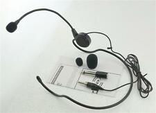 New Pyle PLM31 Cardioid Condenser Headset Microphone W/Flexible Wired Boom 3.5mm