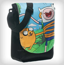NEW Adventure Time with Finn And Jake Crossbody Flap Messenger Book Bag Tote