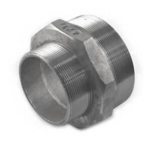 "NEW Screwed S/Steel Reducing Hexagon Nipple 3"" x 2.1/2"" UK SELLER, FREEPOST"