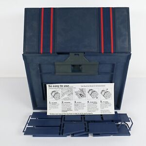 Rolykit S-18 Deluxe Large Organizer Vtg Blue Fishing Crafts Sewing Tools Roll Up