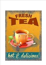 American Retro Style Diner Sign Cafe Sign Tea Retro Sign Kitchen Sign