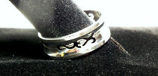 Stainless Steel Tribal Wedding Band Laser Cut Men's Ring Size 11