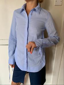 3.1 PHILLIP LIM blouse light blue shirt size 38 Kimono workwear