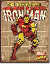 Iron Man Metal Sign/Poster - Retro/Weatherd Panels