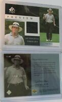 2001 Upper Deck SP Authentic Preview Threads Rookie Golf Card Tom Kite #TK-AT