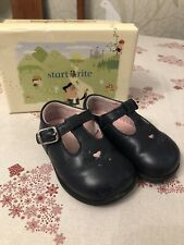 Baby Girl Navy Startrite Shoes Size 3G Infant Pink Heart