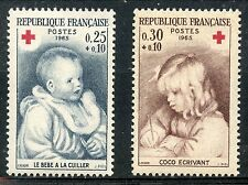 STAMP / TIMBRE FRANCE NEUF LUXE ** N° 1466/1467  ** CROIX ROUGE / RENOIR