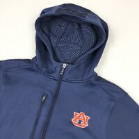 Auburn Tigers Team Player Issue Under Armour Hooded Fleece Zip Jacket • Small