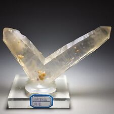 243g Rare Clear Natural White Japanese Twin Law QUARTZ Crystal Original Specimen