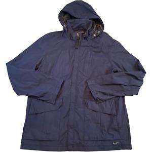 GAASTRA Mens Waterproof Jacket XL Navy Blue Hooded Full Zip