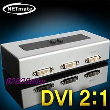 DVI 2 Port DVI-D 2:1 Manual Switcher Selector Switch Box digital WQHD 1920x1080