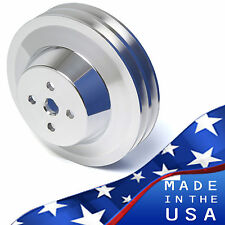 Ford Water Pump Pulley 289 302 351W V-belt SBF 2 Groove V-belt Billet Aluminum