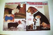 "Dog Sweater Knitting Patterns to Knit Standard & ""Long"" (eg Corgi, Bassett) Dogs"