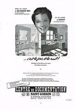 PUBLICITE ADVERTISING 064  1955  CENTRE DE DOCUMENTATION SAINT-GOBAIN miroitier