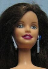 BRUNETTE BARBIE-HIP TO BE SQUARE-2000-BLUE EARRINGS-NUDE FOR ONE OF A KIND