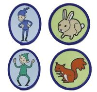 BROWNIE GUIDE SIX CLOTH BADGE EMBLEMS ANIMALS OR PIXIES WOVEN ALL DESIGNS NEW
