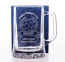 INCISA Padri giorno CALCIO Pinta TANKARD regalo per papà/Papà/Nonno