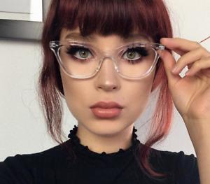 "Cat Eye Vintage Retro ""Ombre""  Women Eyeglasses BAMBI Clear Lens SHADZ GAFAS"