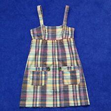 Ladies Madras check dress size M