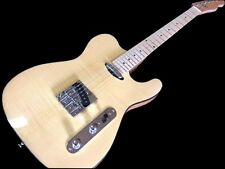 NEW FLAME MAPLE TOP PRO TELE 6 STRING ELECTRIC GUITAR EXOTIC WOOD