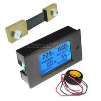 AC/DC 6.5~100V 20-50-100A LCD Digital Combo Panel Display Amp Power Watt Meter