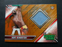 2019 Topps WWE Raw Kofi Kingston Money In The Bank Mat Bronze Relic Card 54/99