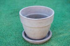 16cm Outdoor Garden Plant Italian Terracotta Griege Round Planter Pots Saucers