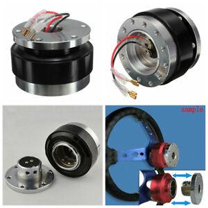 Universal Car Steering Wheel Quick Release Hub Adapter Snap Off Boss Kit Dossy