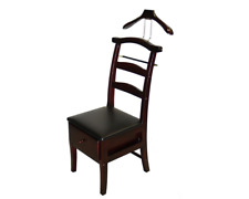Men Valet Chair Butler Coat Rack Wardrobe Clothes Stand Suit Rack Wood Organizer