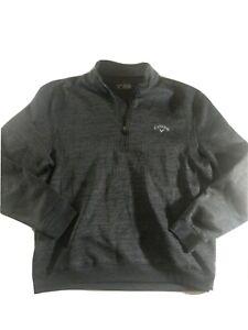 Callaway Men's XL Pullover 1/4 Zip Sweatshirt Gray Polyester