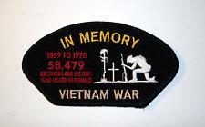 IN MEMORY 58479 POW KIA VIETNAM VET HAT PATCH US MARINE ARMY NAVY AIR FORCE USCG