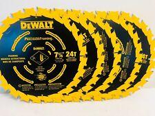 (5 PACK) 7 1/4 NEW Ultra Thin Saw Carbide Circular Saw Blade DeWalt DW3599