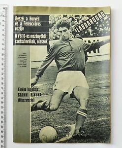 Gianni Rivera Cover-Vintage Labdarugas Soccer Football Magazine Hungary 1970